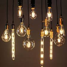 real watt vintage led edison bulb e27 e14 led filament light