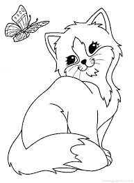 Cat Coloring Pages Cats And Kitten Kitty Online