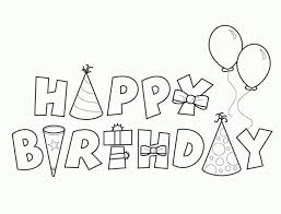 Birthday Coloring Page Free Pages On Art Images