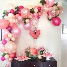 Flamingo DIY Balloon Garland Kit Rose Gold Peach Blush Coral