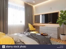 3d illustration schlafzimmer interior design konzept