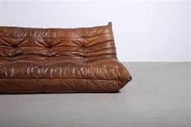 canapé cuir fauve canape cuir vintage canap togo cuir michel ducaroy ligne roset