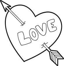 Coloring Pages Hearts And Roses Printable Valentine Heart Page For Kids Free Of
