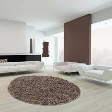 teppiche wohnzimmer teppich modern 80x80 cm rund mocca oeko
