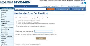 Bed Bath Beyondcom by Bedding Keep More Email List Members With Unsubscribe Bed Bath