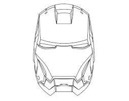 Coloring Drawing Iron Man Mask 523230 Pages For Free 2015
