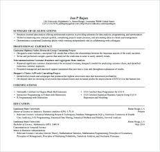 Programmer Resume Printable Template Objective Fresher Sas Developer Sample