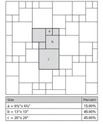 tile laying pattern 450 610 random length library