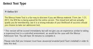Jill All Deals Free Mensa Test normally $18 line