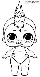 Lol Dolls Coloring Pages Punk Series 3 Wave 2 Surprise Doll Page