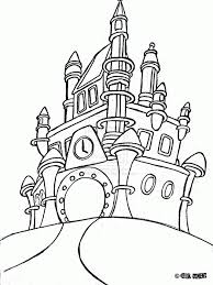 Viewing Gallery For Disney Cinderella Castle Coloring Pages 103626 Free Printable