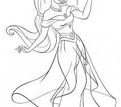 Princess Jasmine Coloring Pages Online Flower Printable Disney Rocheii Free