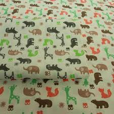 100 Cotton Twill Nordic Wind Cartoon Cute Color Animals For DIY Kids Bedding Cushion Apparel