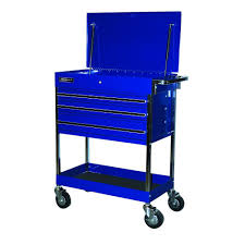 Homak Professional 34 In. 3-Drawer Service Carts In Blue-BL05500200 ...