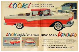 Advertising For The 1957 Ford Ranchero Truck, Life Magazine, January ... A 1958 Ford Ranchero Pickup Truck Based On An Automobile Chassis The 1957 Started Trend 1964 For Sale Near Newport Beach California 92660 Cdon Skelly Classic Trucks 195758 Garage Snooping Pushing Dragsters Back In 1959 Cruisin News 1967 2151406 Hemmings Motor V8 Cartruck Barn Find 1965 Classy Vintage 1963 Woodland Hills 91364 Edsel Custom Truck Pinterest Trucks And Vehicle