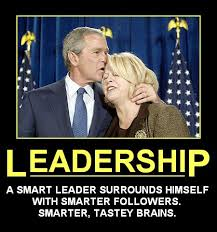 Leadership Demotivational Poster Bush Eats Brains