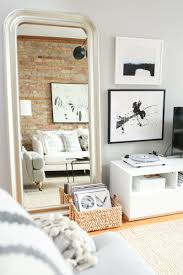 Sunland Home Decor Cowhide Rug by Co Founder U0027s Scandinavian Inspired Apartment White Couches