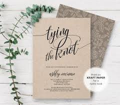 Rustic Bridal Shower Invitation Printable Tying The Knot Wedding Invite Template Editable PDF File Instant Download 115BS