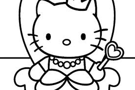 Coloring Page Design Ideas Coloriage Hello Kitty 1