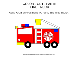 100 Fire Trucks For Toddlers Printable Cut And Paste Truck Truck For