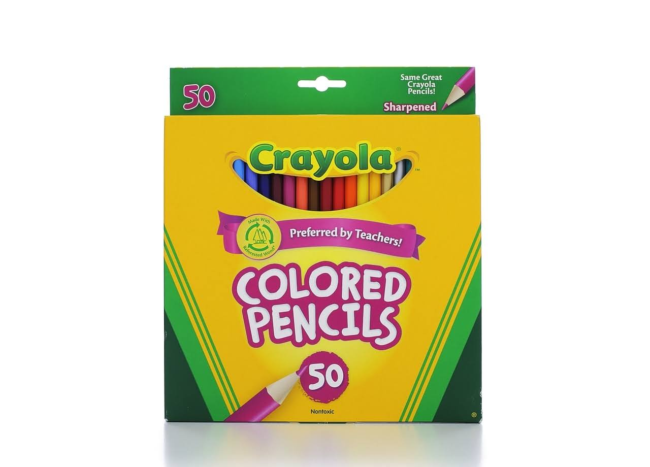 Crayola - Colored pencil - assorted colors - 3.3 mm - pack of 50