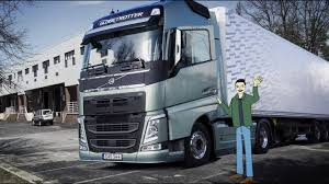 100 Cab Over Truck Volvo S Stop Look Wave Animation Left Hand Driving