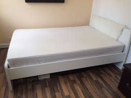 White Leather Sofa Bed Ikea by Ikea Askvoll Bed Frame White In Bournemouth Dorset Gumtree