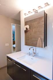 Brushed Nickel Medicine Cabinet With Mirror by Beautiful Bathroom Lighting Over Medicine Cabinet 33 With