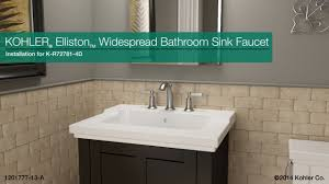 Kohler Fairfax Bathroom Faucet by Installation Elliston Widespread Bathroom Sink Faucet Youtube