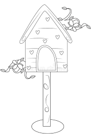 Bird S House Coloring Page