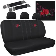 TRUCK SEAT COVERS For Ford F150 Red Rose Flower Bench W/Belt Pads ... Ford Truck Seat Covers By Clazzio 32014 F150 Coverking Ballistic Atacs Law Enforcement Front 2007 Realtree Max4camo Duckcamo Wetlands New F150 Tampa Fl Modern Neoprene Full Set Up To Off Discount Bench Unique 2009 Ford Pickup 19962003 4060 Camo Consolearmrest Chartt Traditional Fit Custom Covercraft 31998 Fseries F12350 2040 Car Seats Seat Covers For Luxury Cover 2001 Pair For Buckets 200914