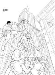 Red Spiderman Coloring Pages