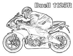 Buell 1125r Free Motorcycle Coloring Pages Print