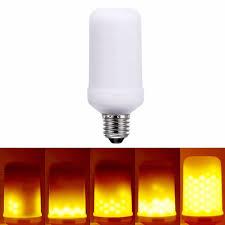 e26 e27 led effect light bulbs flickering emulation