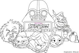 Angry Birds Star Wars Coloring Page Photo