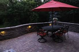 lighted seat wall patio villa landscapes