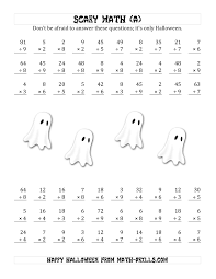 Halloween Multiplication Worksheets 3rd Grade by Printables Math Worksheets Multiplication And Division Ronleyba