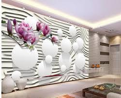 moderne wohnzimmer tapeten lila magnolia blumen tapeten für wohnzimmer dekoration weißen tapete