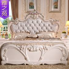 Newest Continental Bed French Bedroom Furniture Rose Gold Series 18 M Princess Wholesale