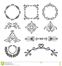 Hand Drawn Decoration Elements Frames Page Divider And Border Vector Illustration Royalty Free Stock