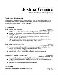 Legal Admin Assistant Resume Template