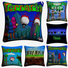 US $5.94 50% OFF|Terraria World Video Game Art Decorative Cotton Linen  Cushion Cover 45x45cm For Sofa Chair Pillow Case Home Decor Almofada-in  Cushion ...