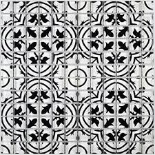 glasmosaik fliesen retro schwarz weiß wand boden dusche wc
