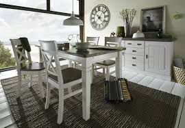 esszimmer gruppe mit sideboard fjord weiß grau im landhausstil sideboard 2 türen 4 schubladen 171 3x90 1x48cm weiß grau