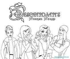 Disney Descendants Coloring Pages 1011 Also
