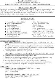 Resume For Police Officer Sheriff Deputy Examples Military Sample