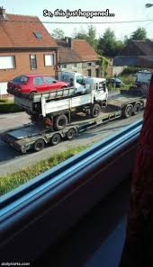 Funny Truck Carrying Car Tow
