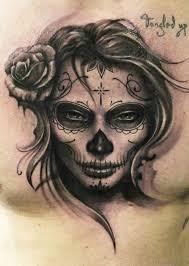 Grey Ink Portrait Tattoo Design