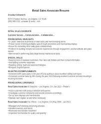 Resume Sales Associate Example Retail Sample Examples Free