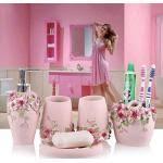rosa badaccessoires sets günstig kaufen ladenzeile